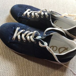 Sam Edelman denim navy sneakers